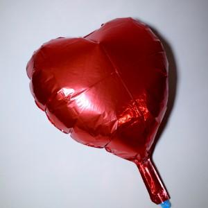 Fóliový balónek ve tvaru srdce