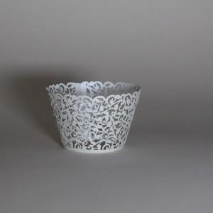 Stříbrné košíčky na cupcakes 12 ks